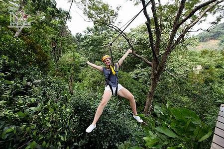 泰国普吉岛丛林飞跃flying hanuman 套餐b(28站不含餐)