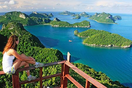 泰国安通国家海洋公园快艇一日游(成人价)含皮划艇lomlahk