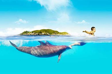 三亚西岛门票船票 潜水,摩托艇等海上娱乐项目 海鲜自助餐 海南旅游