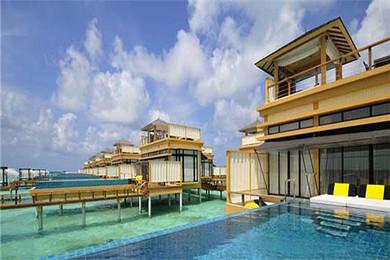 马尔代夫最私密的水上别墅,6星奢华岛屿(薇拉瓦鲁)阁楼式水屋,独有