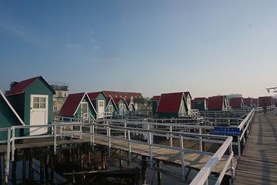 唐山乐亭月坨岛独卫小木屋住宿赠送登岛船票 海边度假休闲