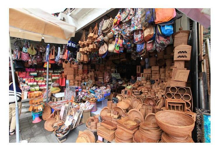 乌布传统市场,是巴厘岛著名的旅游景点,也被认为是巴厘岛超有文化
