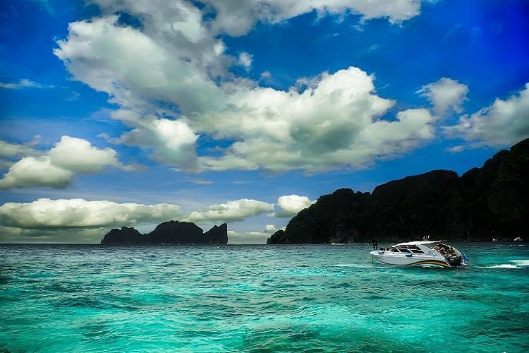 泰国普吉岛~【攀牙湾】豪华双体游艇日落环游(赠,冲浪
