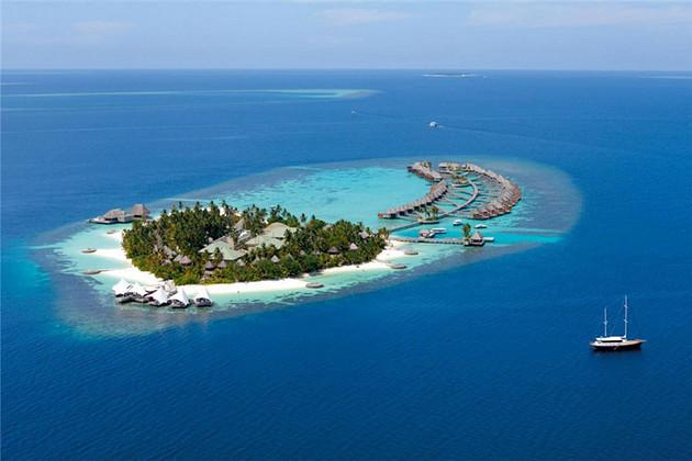 暑假特卖 马尔代夫奢华六星w宁静岛2晚海滩绿洲别墅2晚海上绿洲泳池