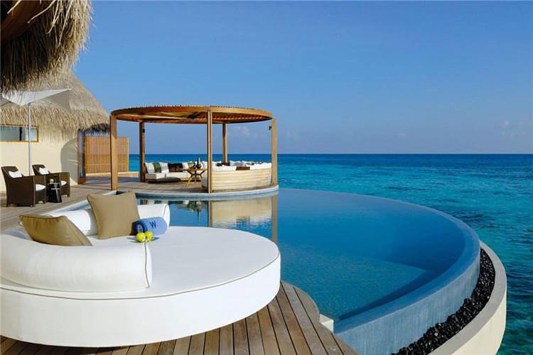 马尔代夫奢华六星w宁静岛 2沙2水 早晚餐 水飞上岛