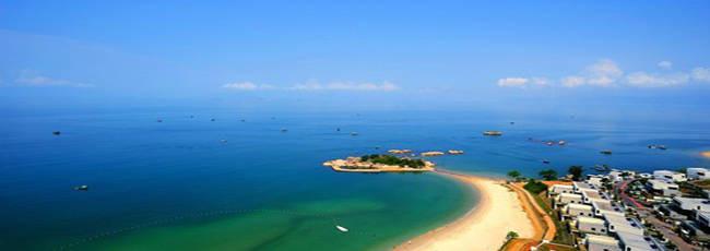 景区介绍:三角洲岛三角洲岛又名三角岛,位于巽寮湾的正南面,面积约1