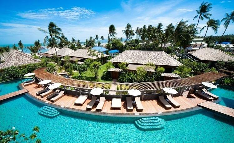 椰林海岛--豪华五星kc水上别墅度假村,香港直飞苏梅岛