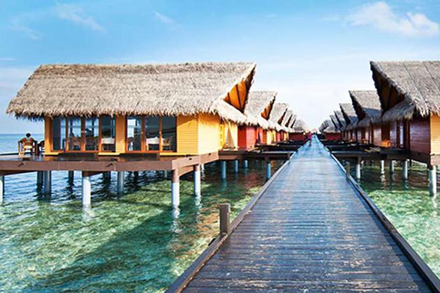 马尔代夫4星岛屿 白金岛 +香港直飞+3晚沙屋+全包宴
