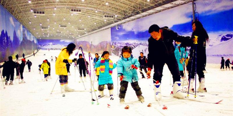 玩石家庄动物园辛玛王国大型主题乐园 玩西部长青室内滑雪馆 住河北