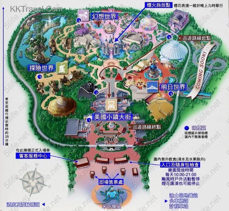 上海迪斯尼手绘地图
