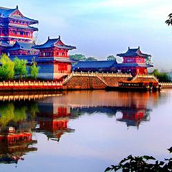 泰州凤城河望海楼景区