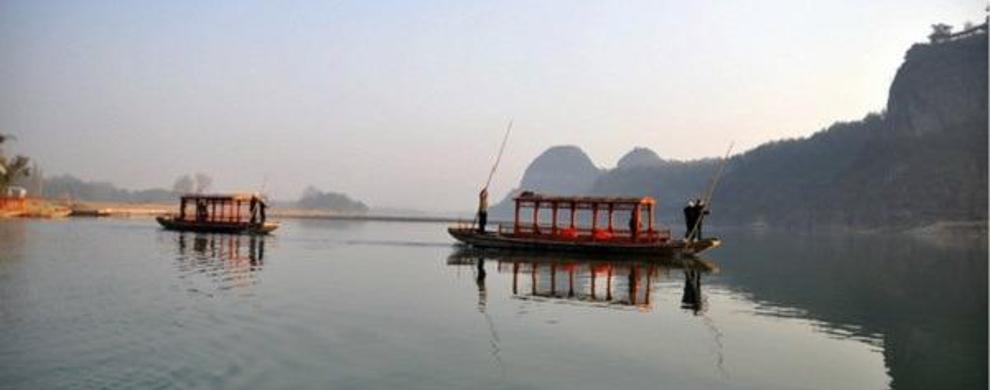 竹筏漂流,一路美景