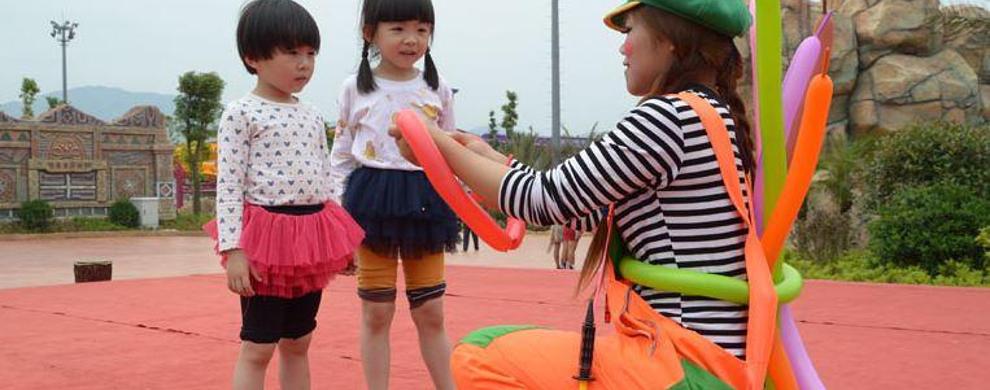 可爱又搞怪的小丑永远是孩子们的最爱