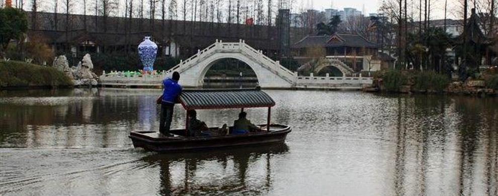 小桥流水白鹭洲