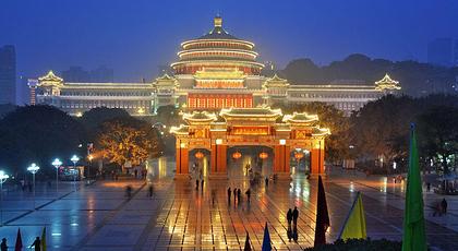 重庆著名建筑简笔画