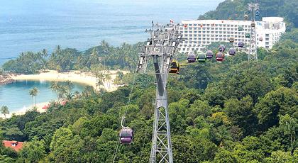关于新加坡缆车——新加坡花柏山景和圣淘沙岛之间的美景之连