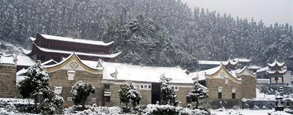 雪中宝宁寺