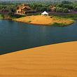 腾格里湖湿地金沙岛