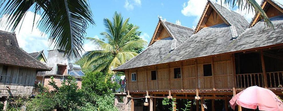 傣家民居,庭院风光,体验傣家生活习俗,感受做一天傣家人的生图片