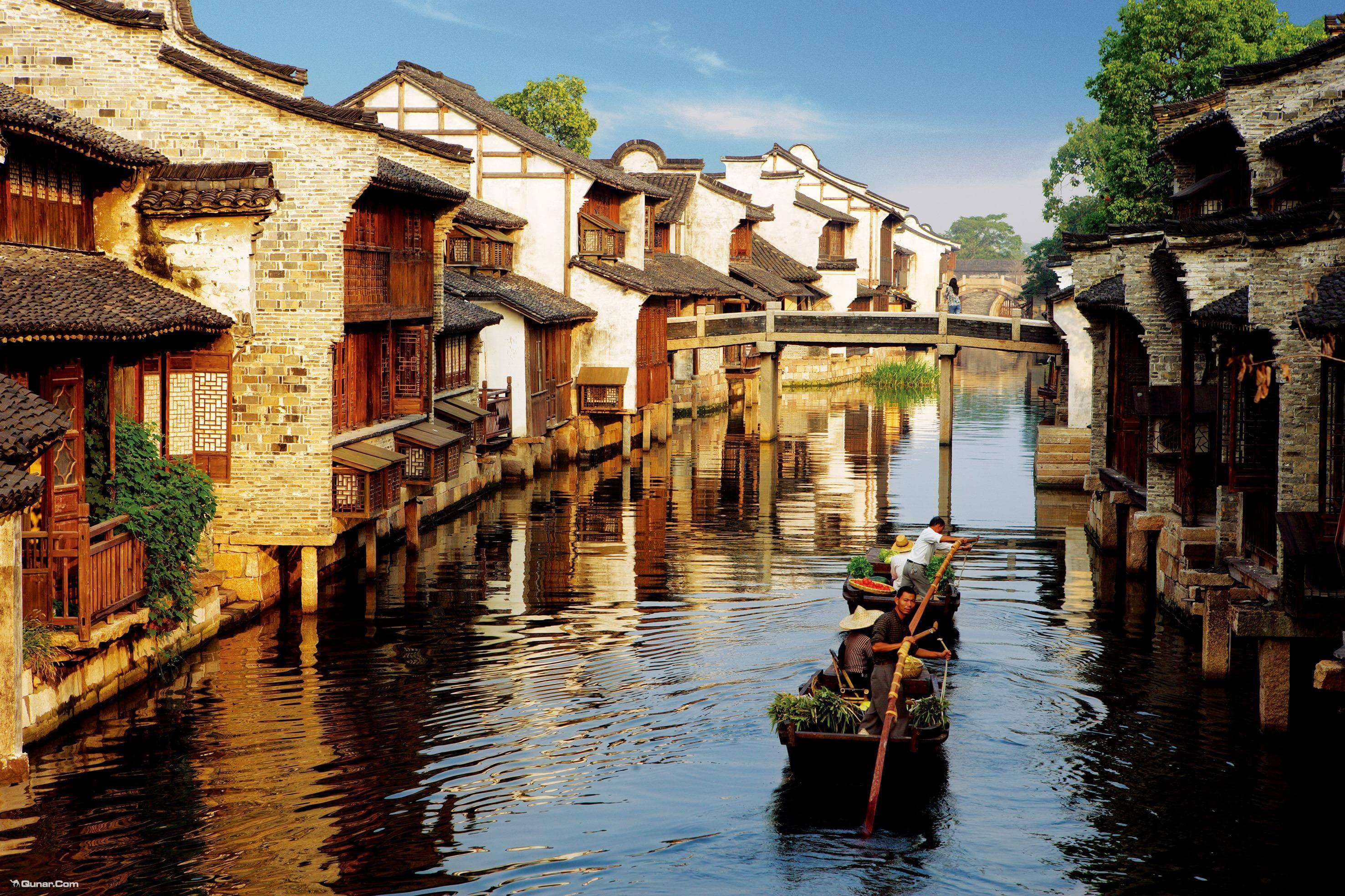 乌镇手绘风景图高清版