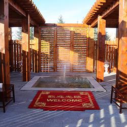 五大连池风景区火山雪地温矿泉