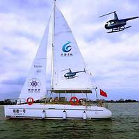 北海银滩帆船海上观光游艇
