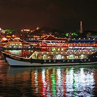 鹭江夜游(和平码头)