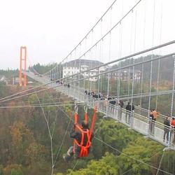 平昌县驷马水乡玻璃桥景区