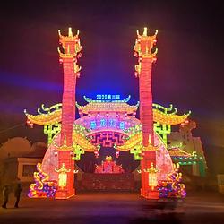 贾家庄生态园恐龙灯会