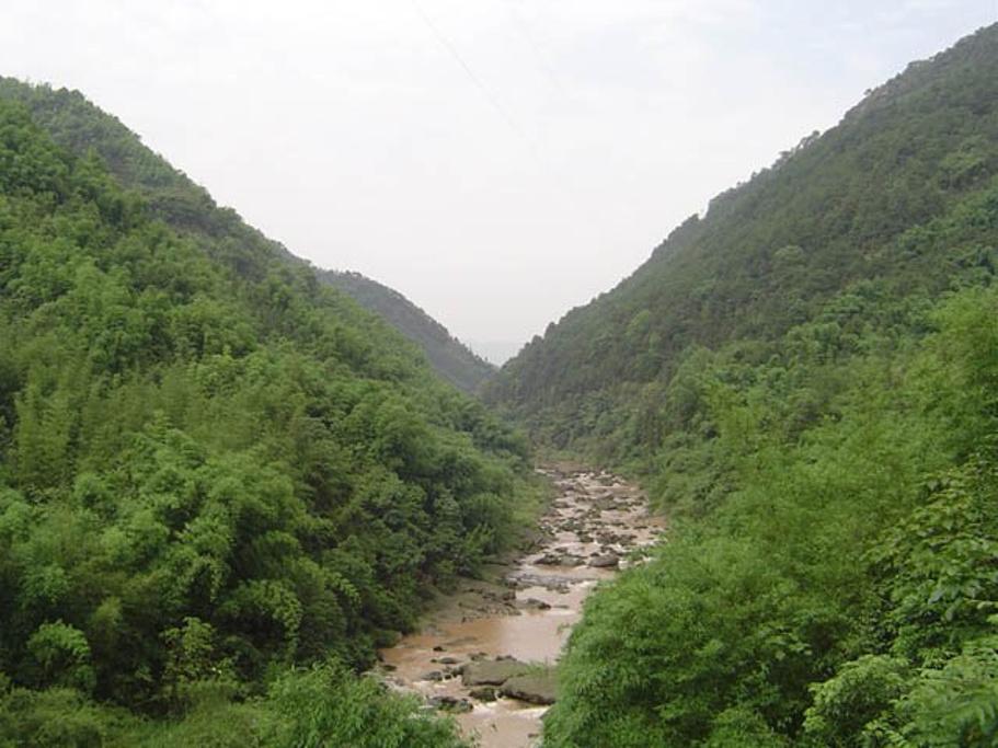 翠寿坡位于九宫山石龙沟景区上段东南侧,海拔在1000米至1400米之间