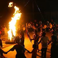 湄公河篝火晚会