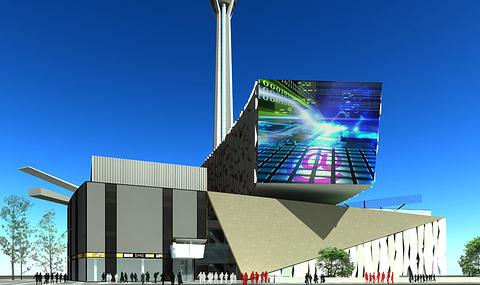 项目定位为中国西部国际潮流胜地,塔下A、B、C三座建筑主体集大型电视演播厅、精品超市、高端酒店、创意办公、美食广场、玩乐新宠、时尚购物、广电产业等丰富的物业形态。项目由国际级著名建筑规划设计师倾情打造,时尚现代,匠心独运,整体设计上强调现代、动感、个性、时尚等特性。