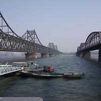 鸭绿江中朝界河游船