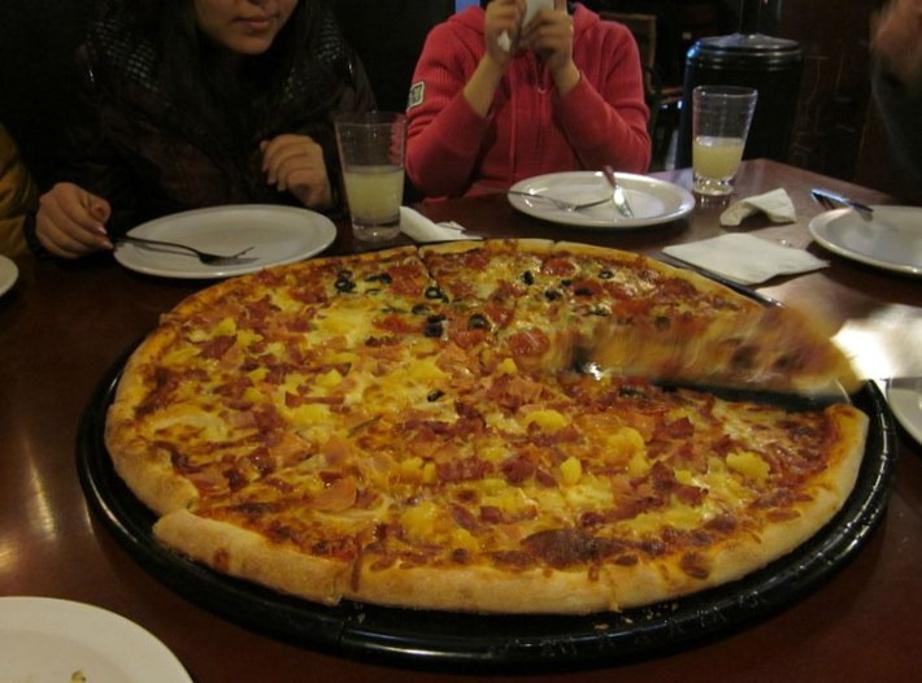 点的最大个儿的那个披萨