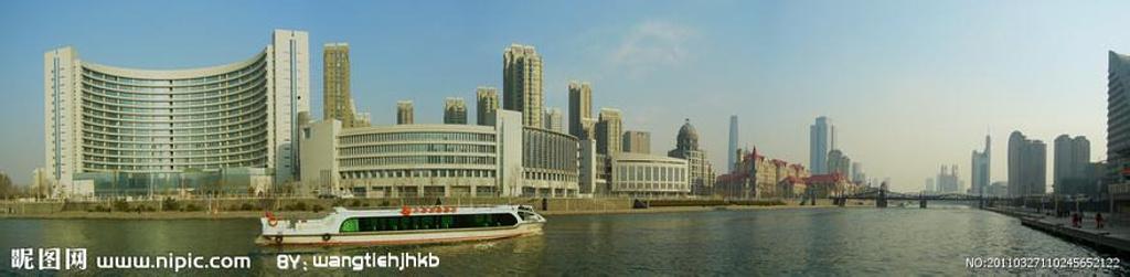 海河为天津市风景轴线,流经全市,全长74.