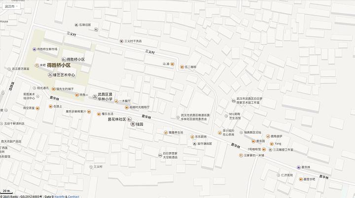 手绘地图街区英文版