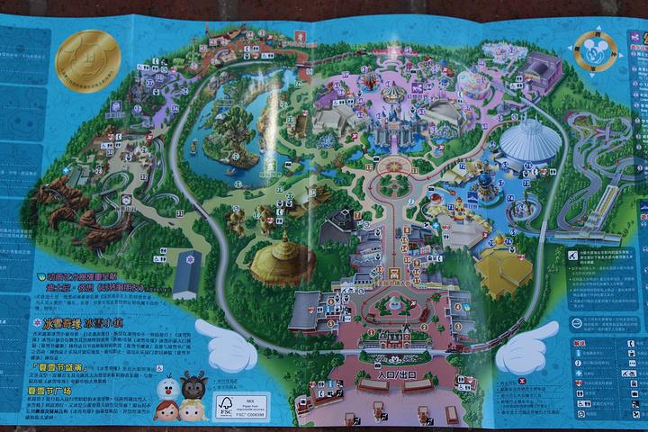 入院左右两边都有,几种语言任选!迪士尼地图!图片