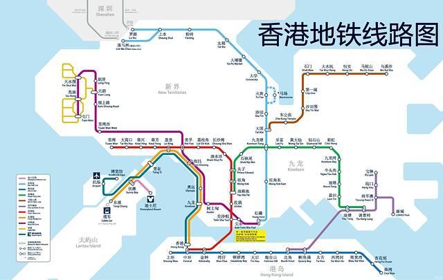 香港地铁_香港地铁线路图