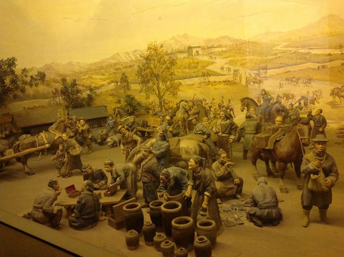 古时热闹的集市场景