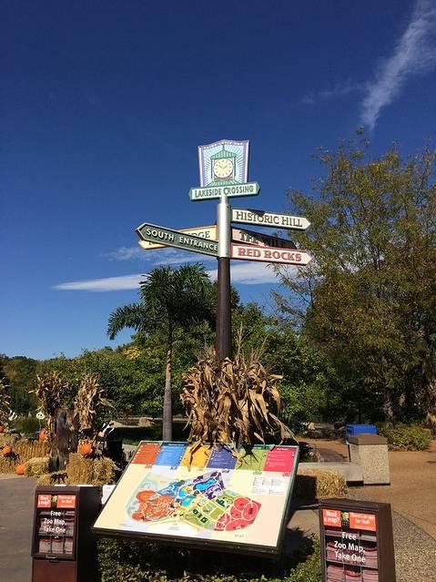 动物园入口处的指路牌