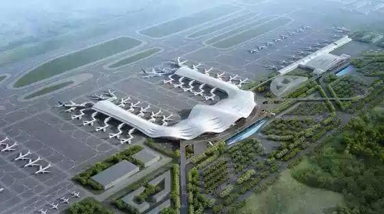 俯视桂林两江机场图片