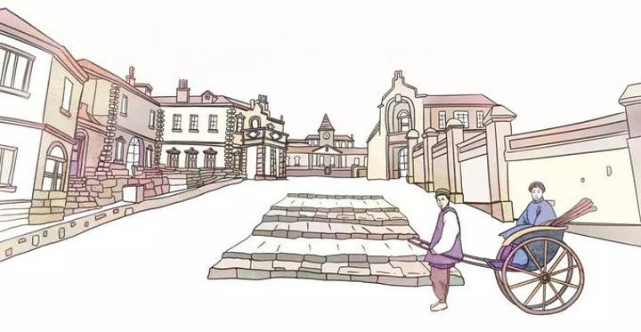 画老街的步骤怎么画