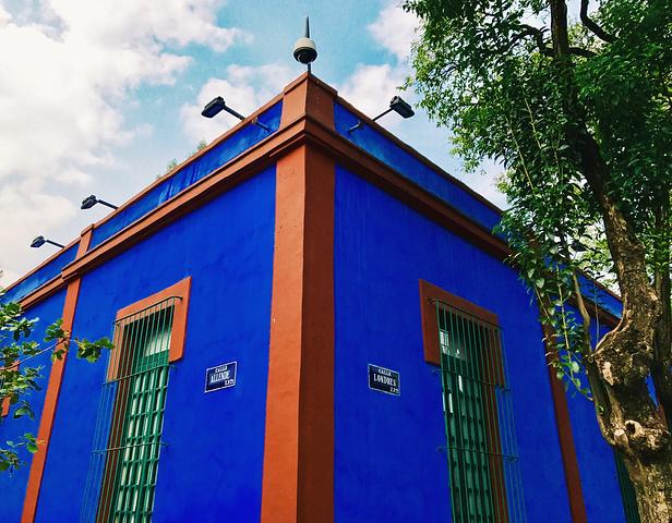 蓝房子的蓝,真的是最纯粹的蓝色.