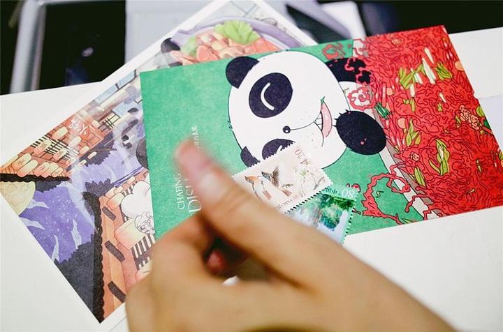 超级可爱的明星片,喜欢大熊猫,有爱好收集名片的小可爱们,这可是超级