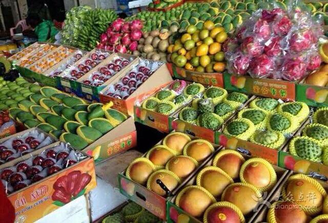南北水果批发市场图片