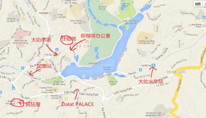 大叻地图.