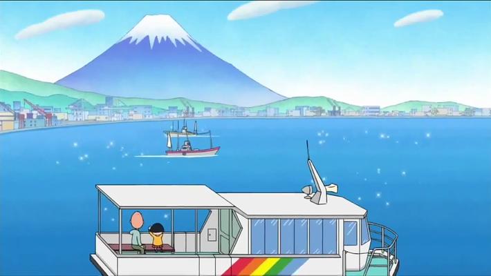 跟着樱桃小丸子去看富士山