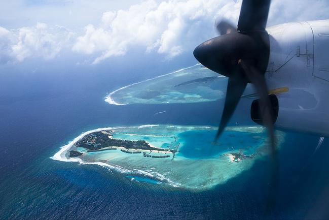 马尔代夫内陆飞机图片