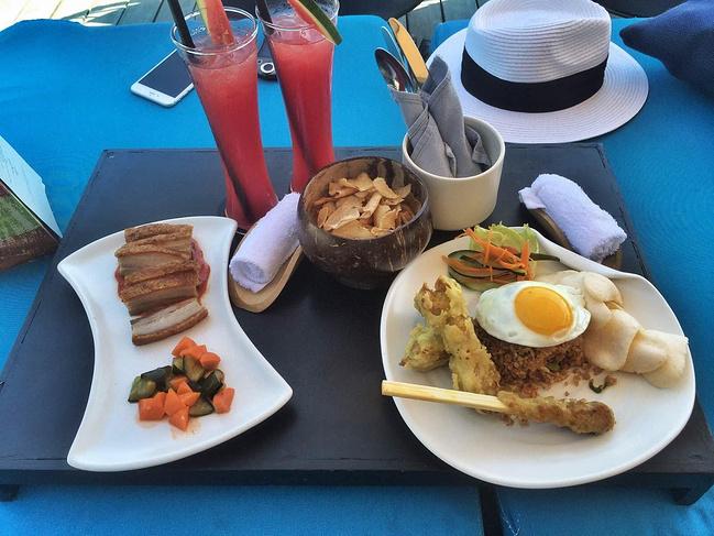 在巴厘岛大部分菜单都是纯英文,或者印尼的文字!