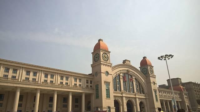 汉口火车站为一仿欧式的建筑